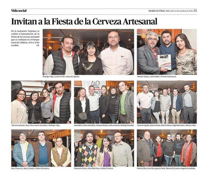 Lanzamiento Fiesta de la Cerveza Valdivia